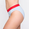 Load image into Gallery viewer, RED by Modibodi Hipster Bikini Blue Marle Moderate-Heavy |ModelName:Tiffany Youth 14-16