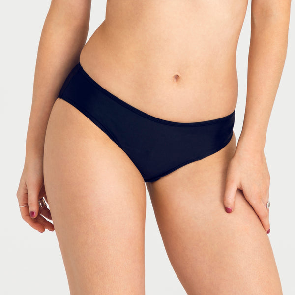 Load image into Gallery viewer, RED by Modibodi Teen Period Swimwear Navy