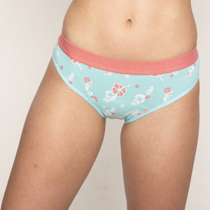 Hipster Bikini - Blue Calypso Moderate-Heavy Absorbency