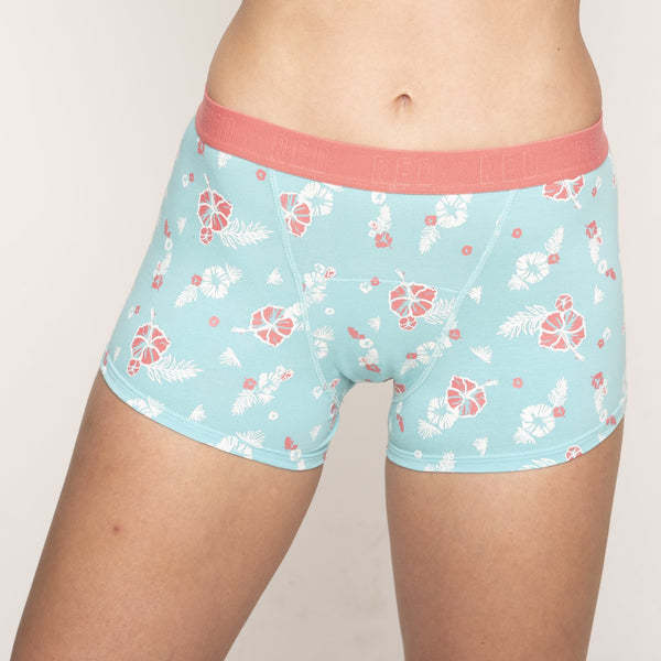 Load image into Gallery viewer, Hipster Boyshort - Blue Calypso Moderate-Heavy Absorbency