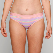Load image into Gallery viewer, Teen Period Underwear - RED Modibodi Hipster Bikini Rainbow Stripes