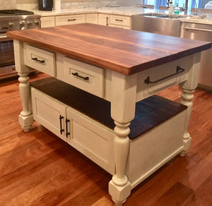 Pleasing The Livingston Butcher Block Kitchen Island Arcadian Cottage Squirreltailoven Fun Painted Chair Ideas Images Squirreltailovenorg