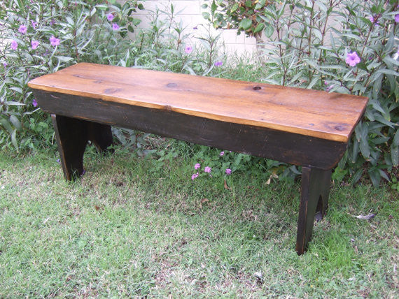 antique bench wooden farmhouse country cottage