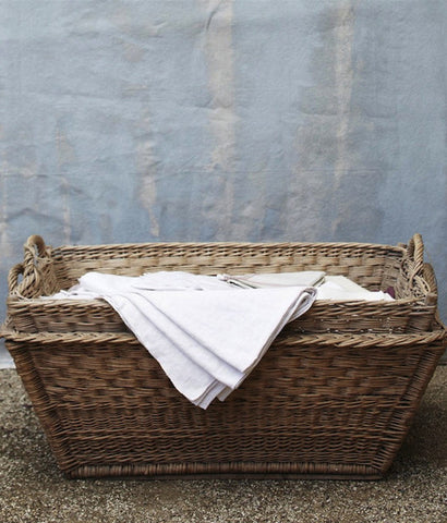 French Cane Laundry Basket