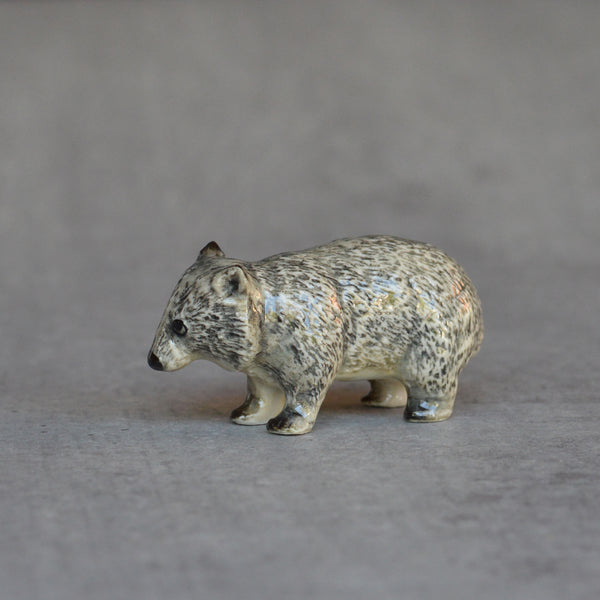 Ceramic Wombat Miniature Figurine
