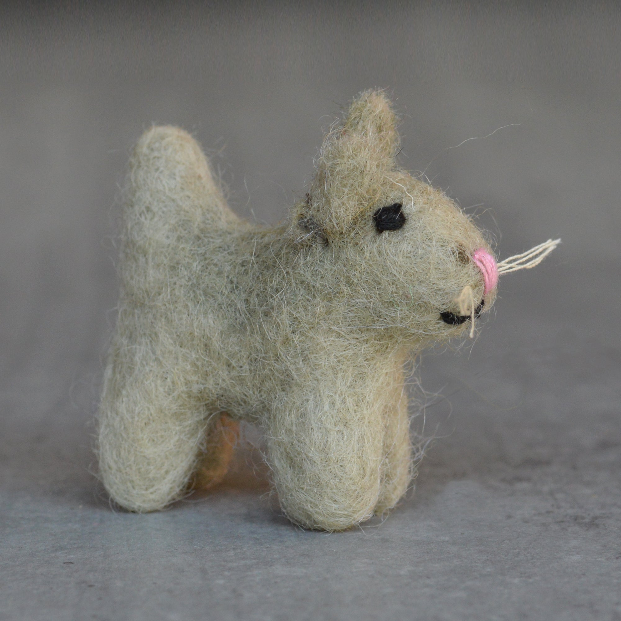 Handmade Miniature Felt Cat