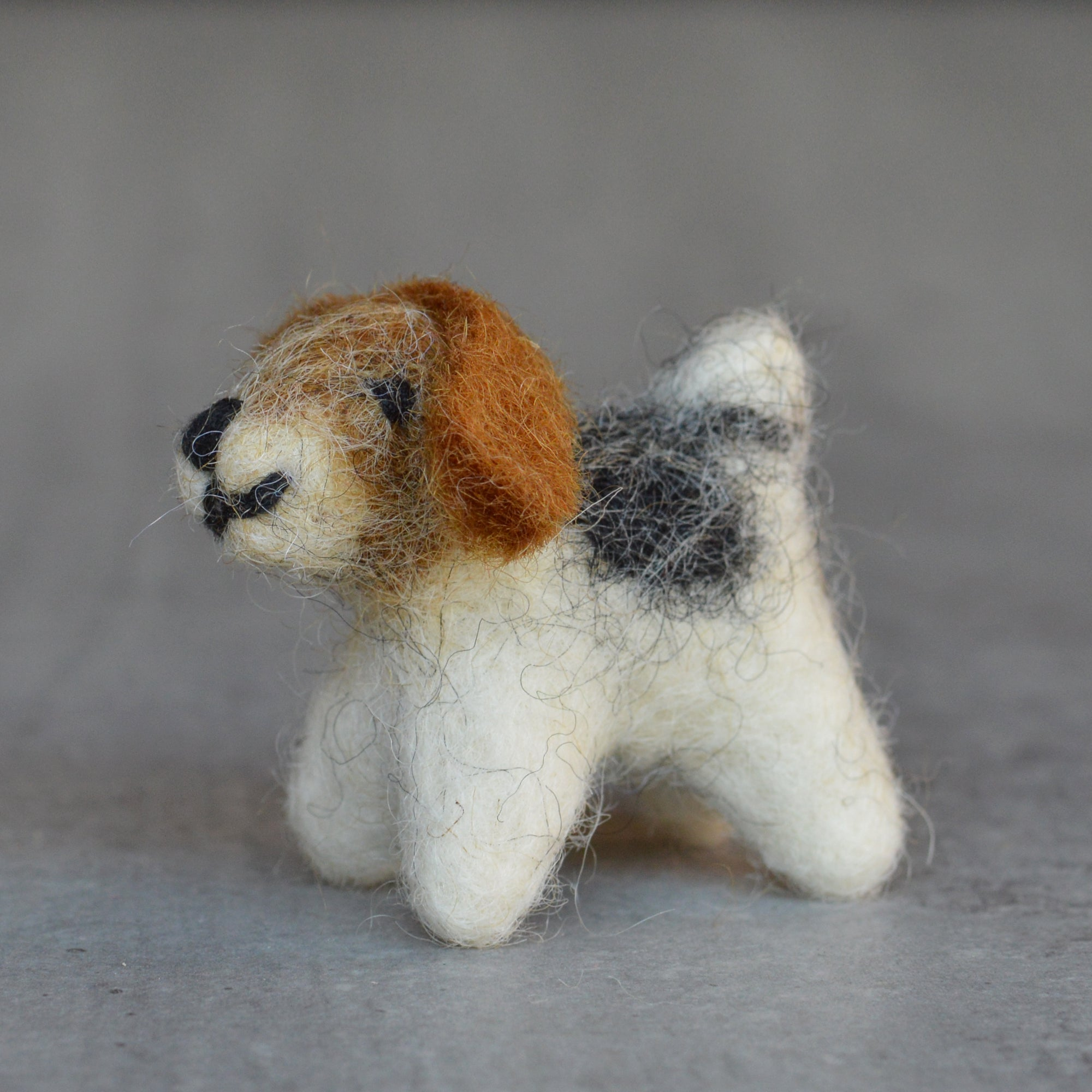 Handmade Miniature Felt Dog