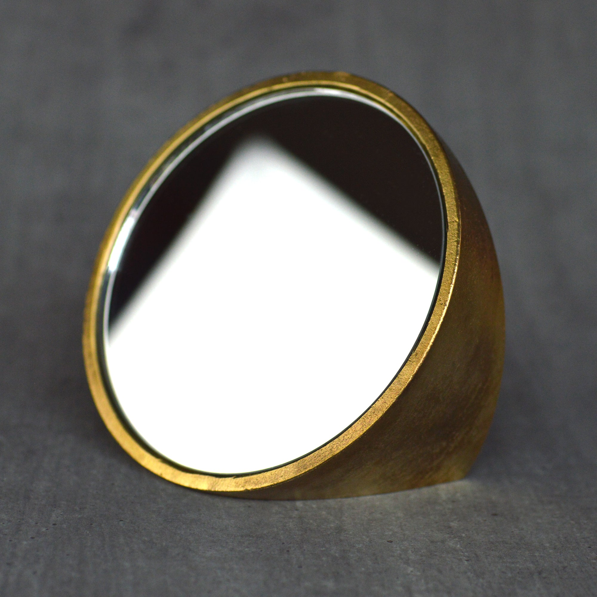 Brass Mirror by Taku Shinomoto