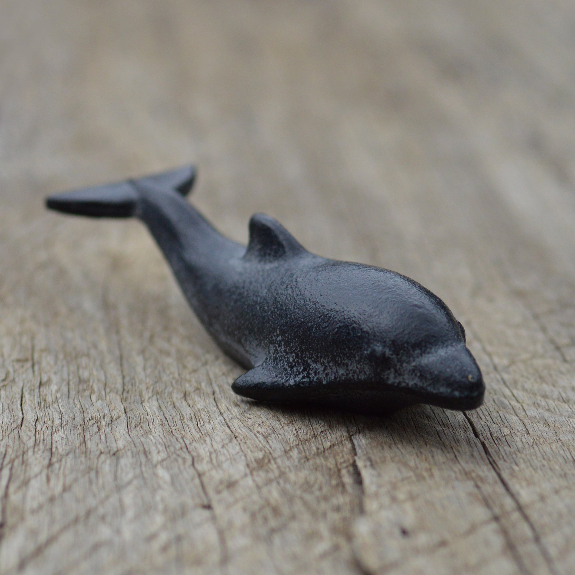 Japanese Dolphin Iron Paper Weight