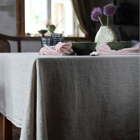 Washed Pure European Linen Tablecloth 150 x 230cm