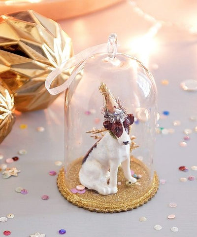 Hanging Dog Glass Dome Ornament