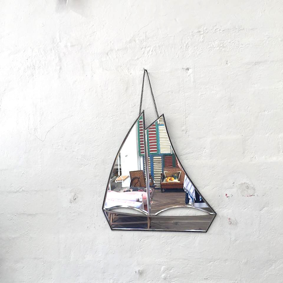 Galleon Ship Mirror Designed by Sibella Court