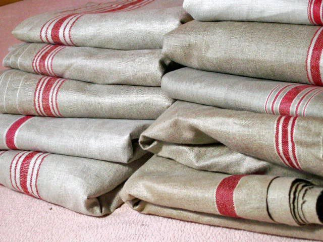 Vintage French Linen Mangle Cloth