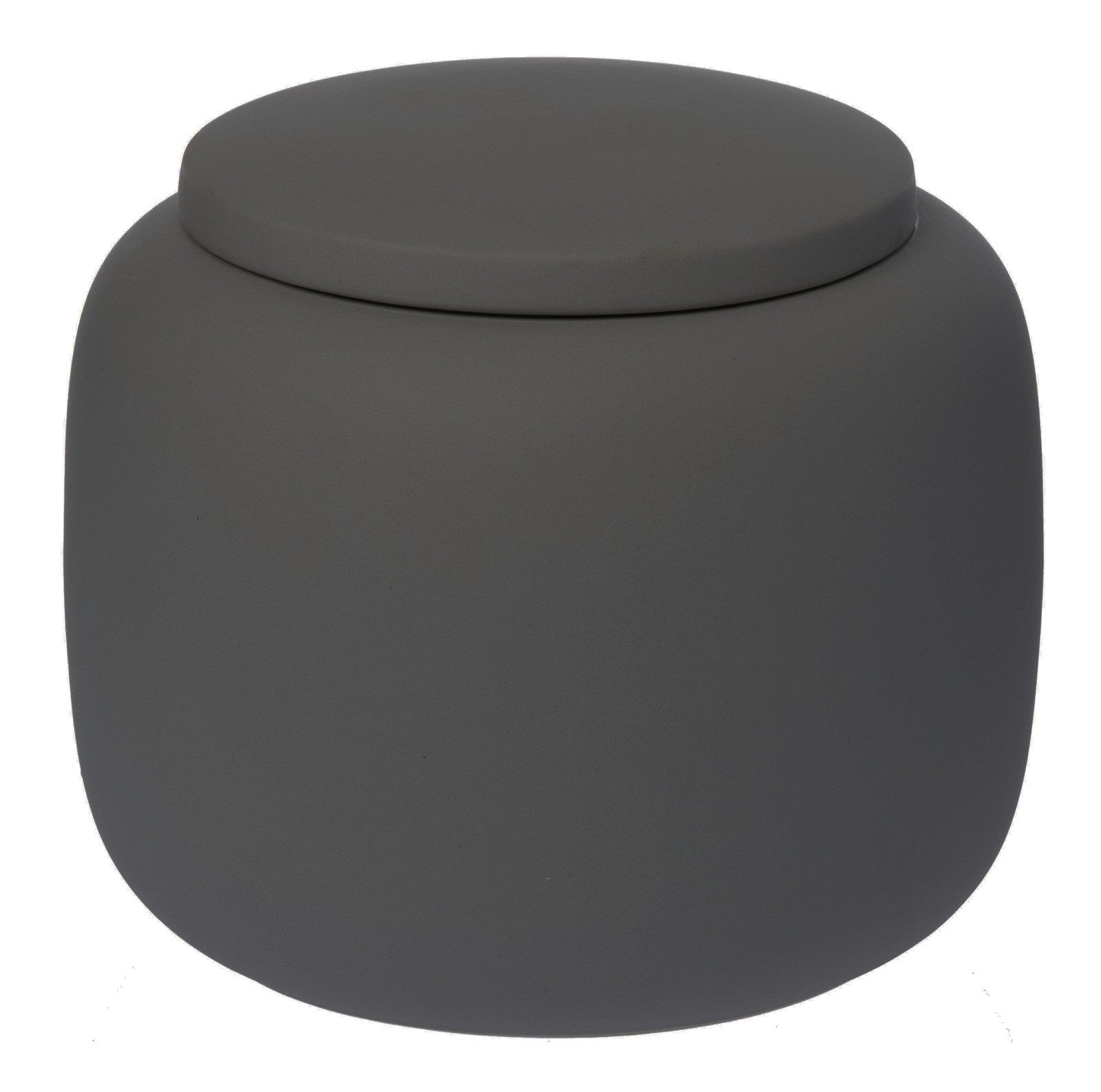 Matt Black Ceramic Jar