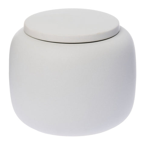 Matt White Ceramic Jar
