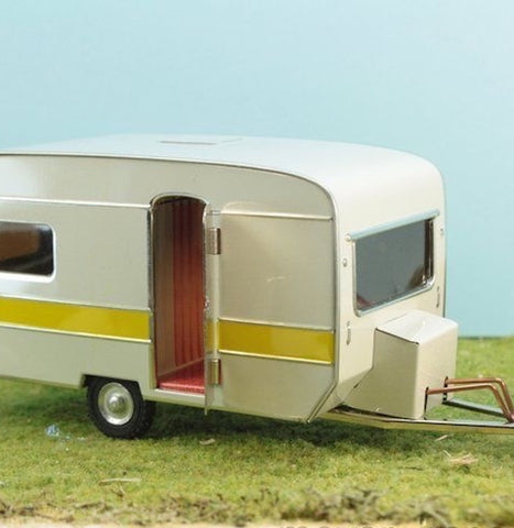 Toy Tin Caravan from Czech Republic