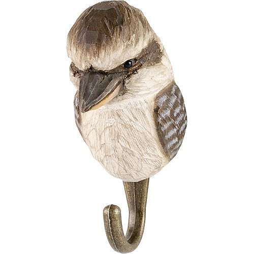 Hand Carved Wooden Wall Hook - Kookaburra