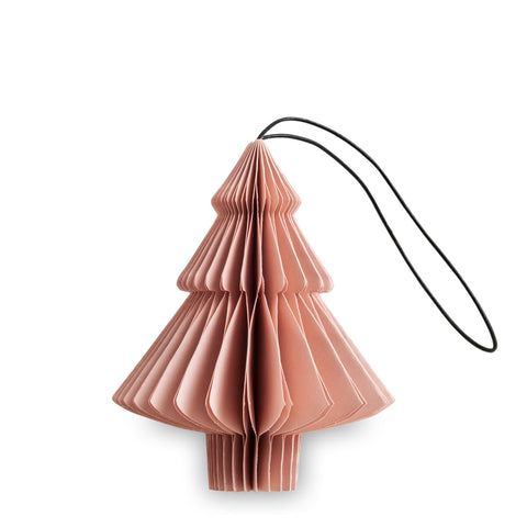 Danish Honeycomb Paper Tree Ornament - Soft Blush