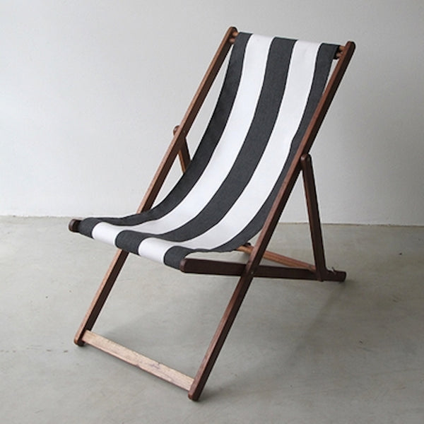 Deck Chair -   Charbon et blanche rayee