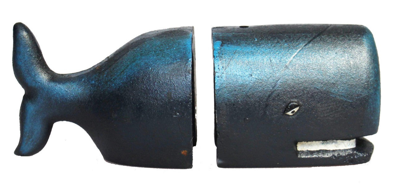 Cast Iron Whale Bookends
