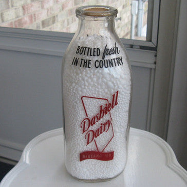 Vintage Dashiell Dairy Milk Bottle