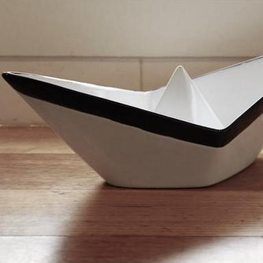 Ceramic Paper Boat Bowl