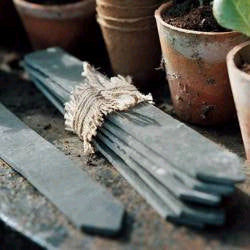 Slate Plant Labels with Chalk Pencil