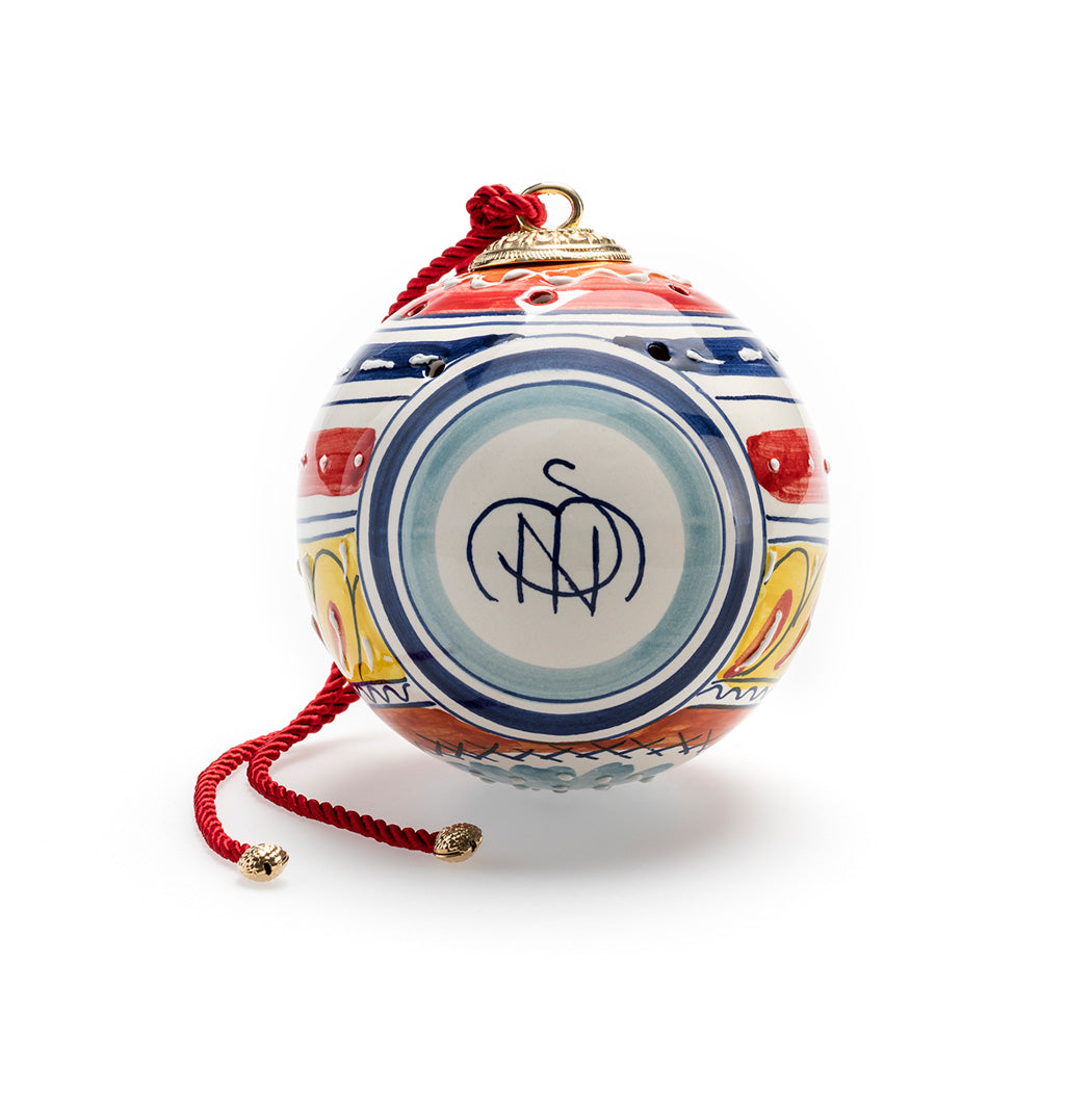 Santa Maria Novella Hand- Painted Ceramic Pot Pourri Globe - SMALL