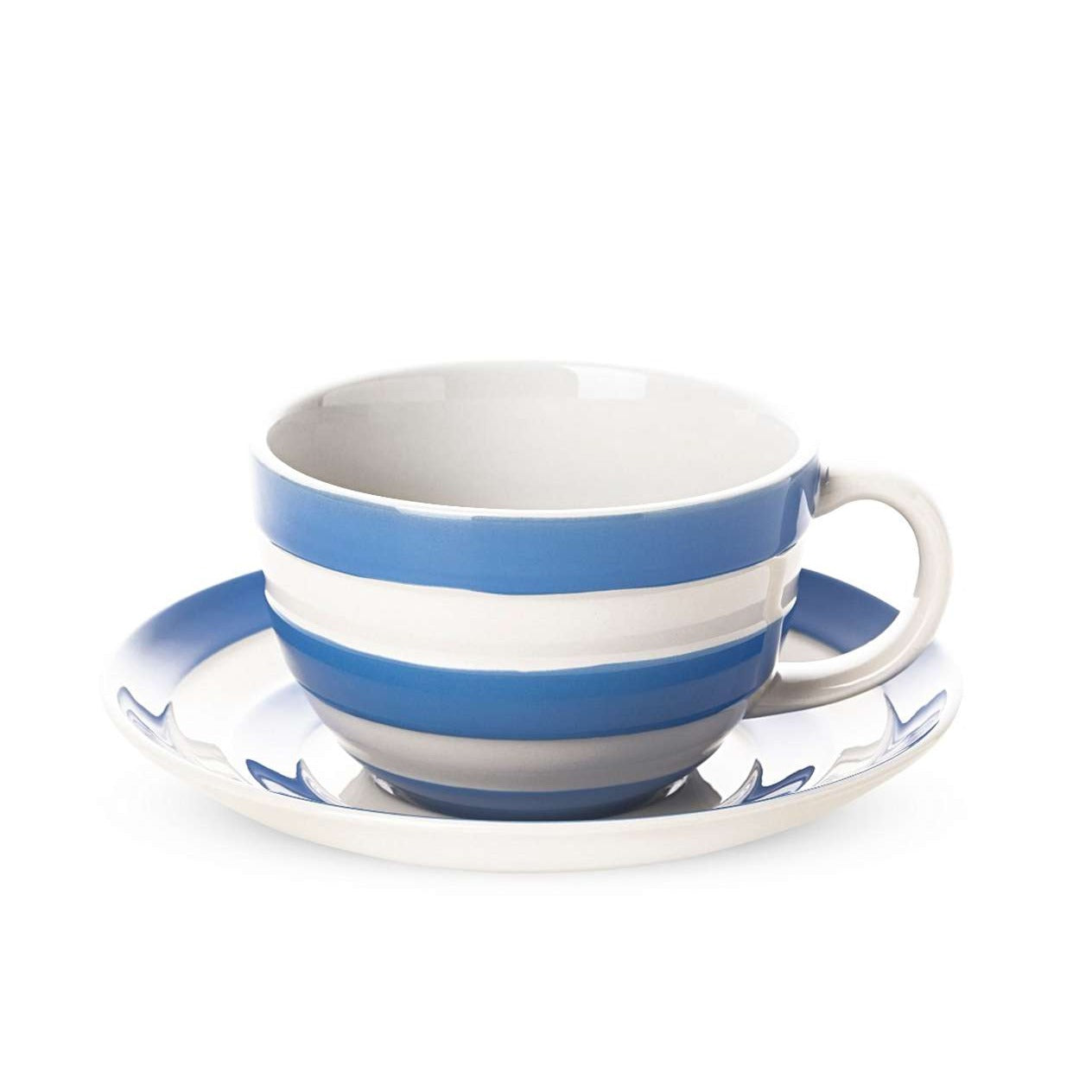 Cornishware Blue Breakfast Cup and Saucer