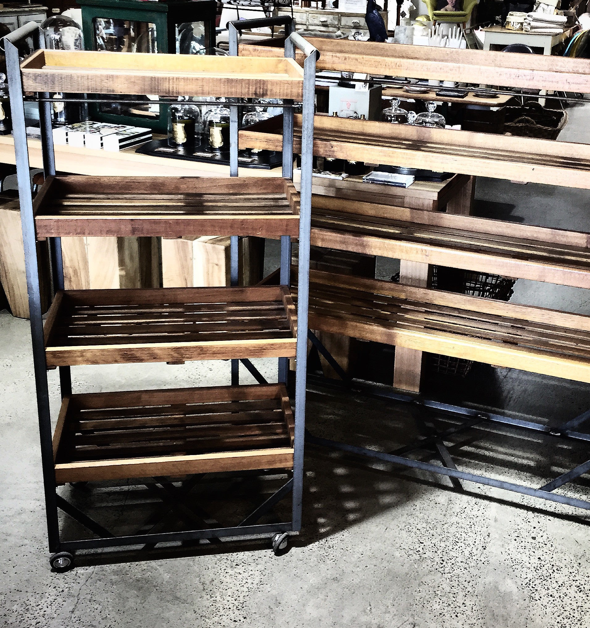 Industrial Shoe Rack/ Cobblers Trolley Large