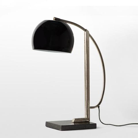 Marble Base Table Lamp - Black