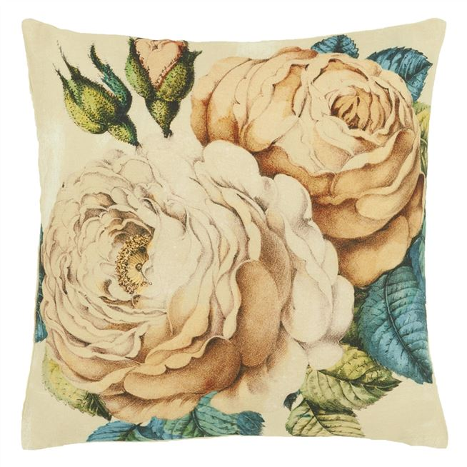 John Derian The Rose Sepia Cushion for Designers Guild