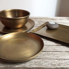 Brass Bowl Fog Linen Work Japan
