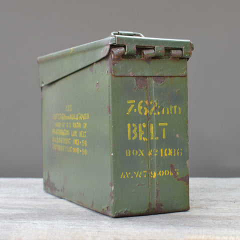 Vintage Army Green Ammunition Box