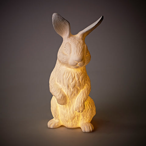 Porcelain Standing Rabbit Lamp