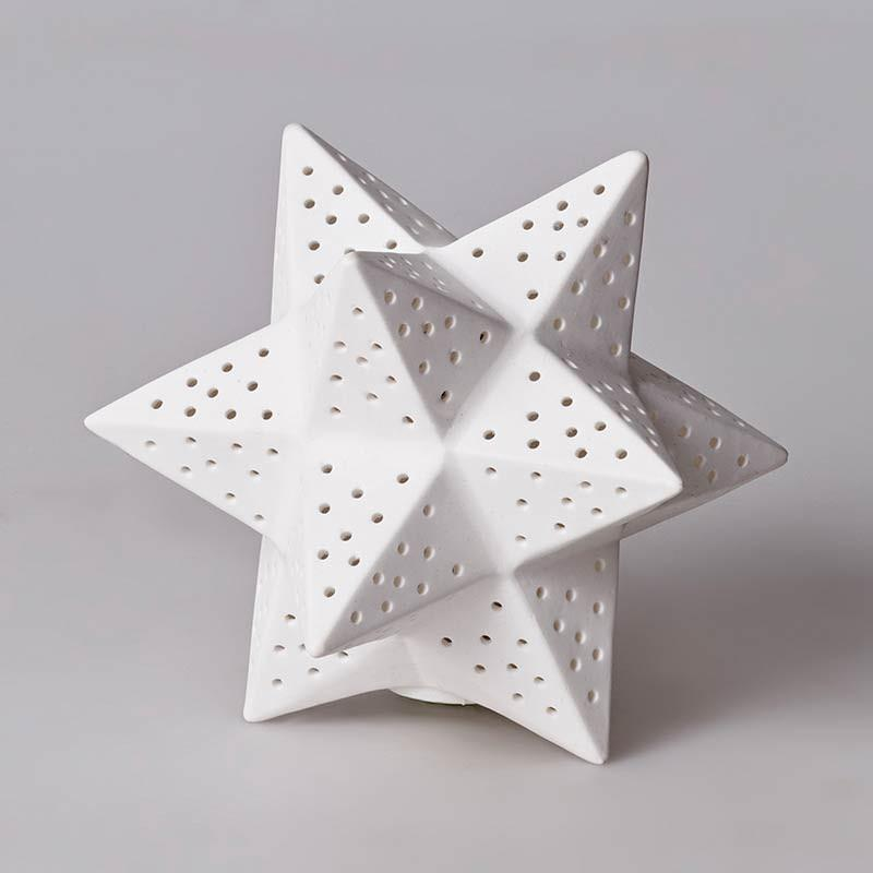 Bone China Moroccan Star Lamp