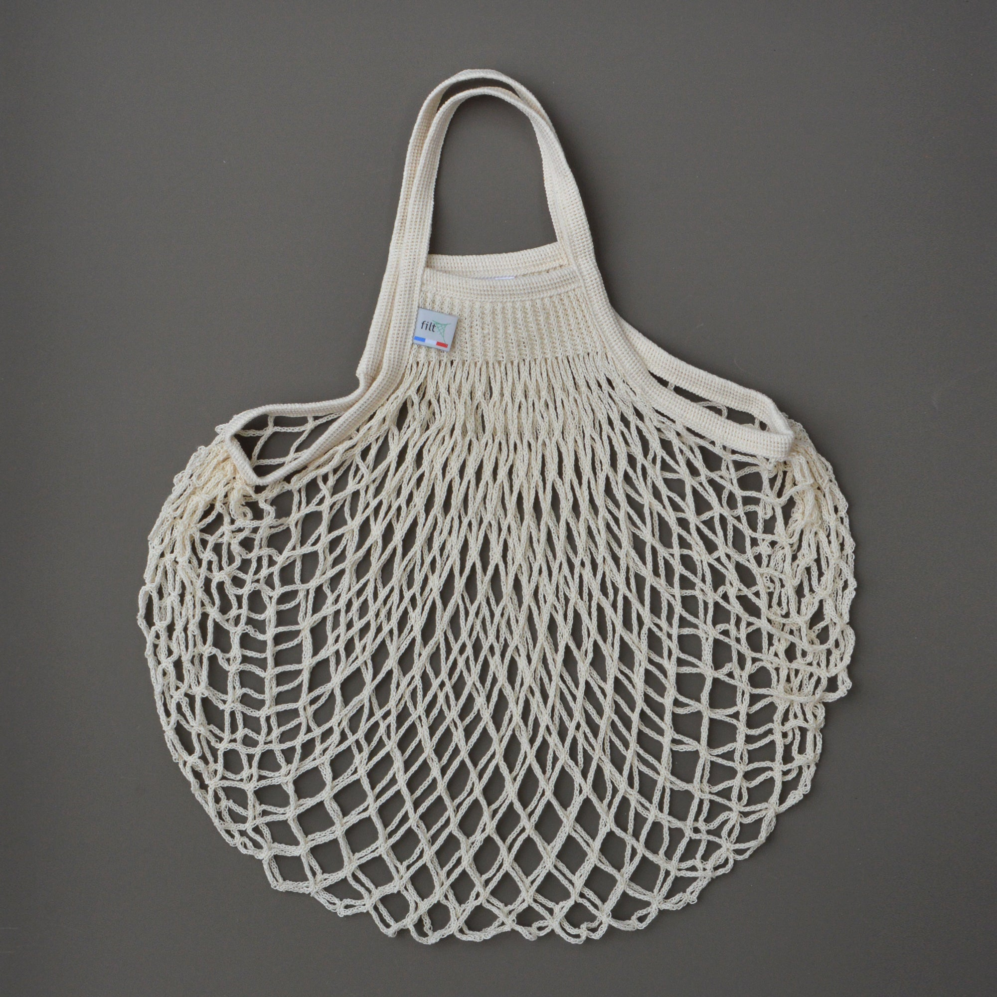French String Bag in Ecru
