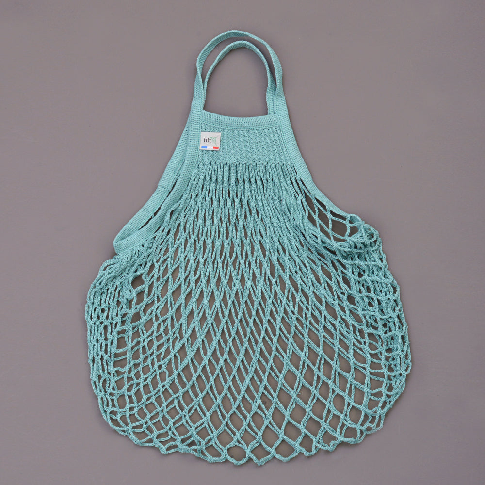 French String Bag in Aqua Green