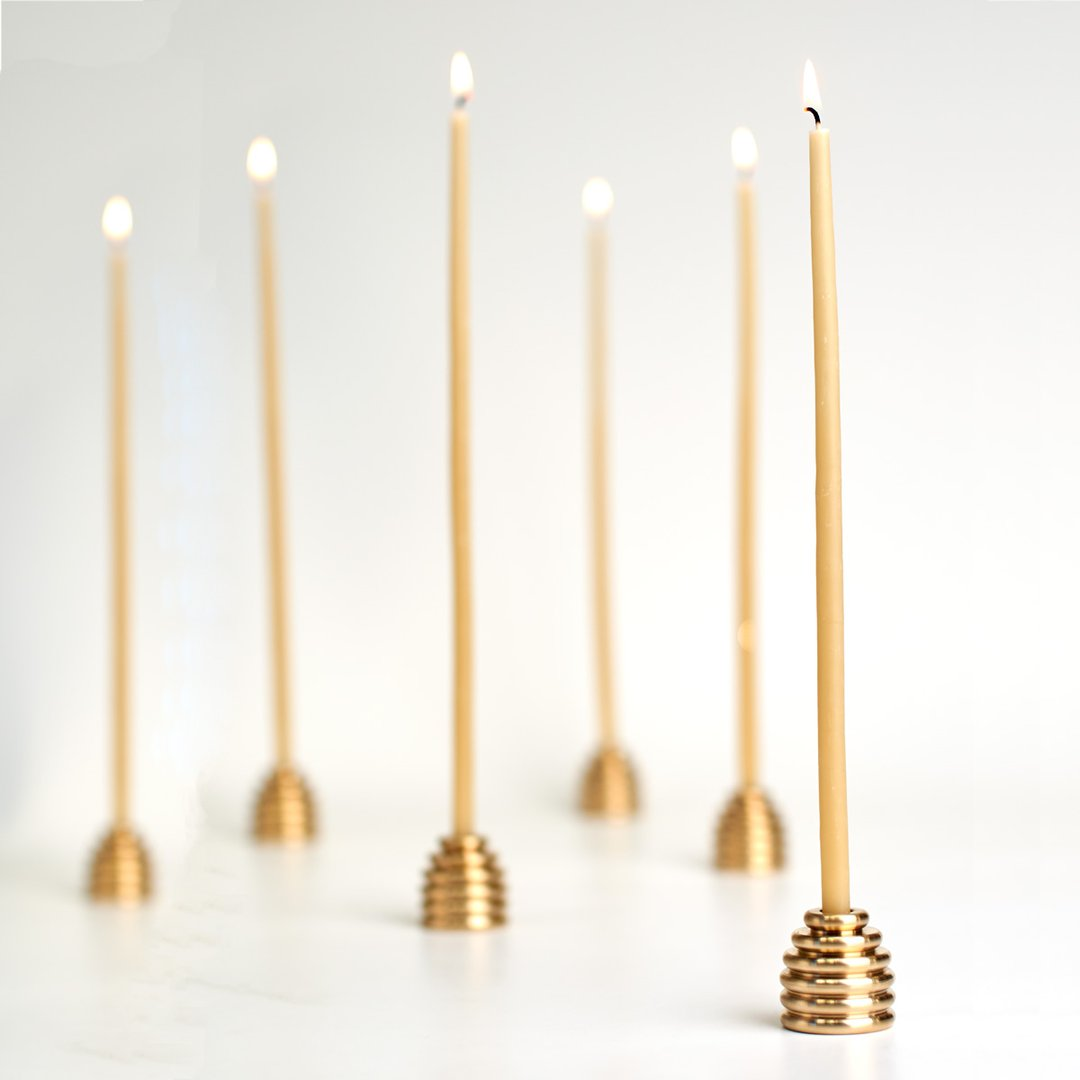 Queen B - Black Label Reversible Beehive Candle Holder