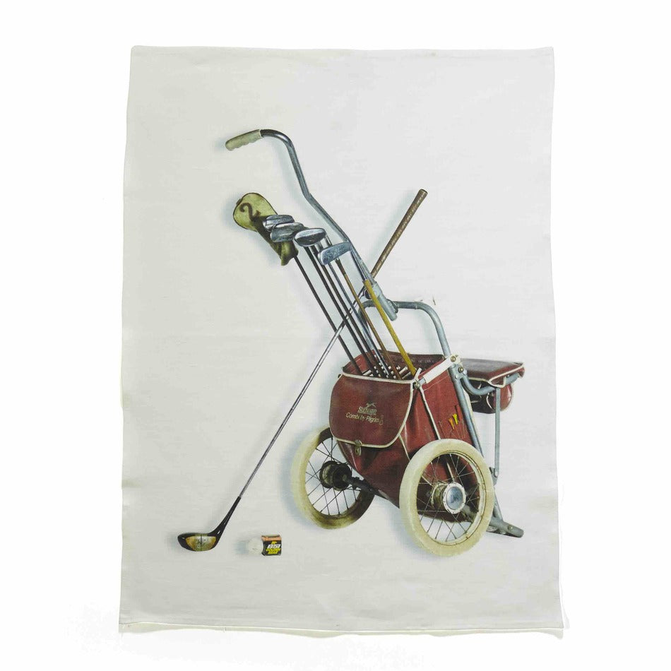 Golf Buggy Linen Tea Towel