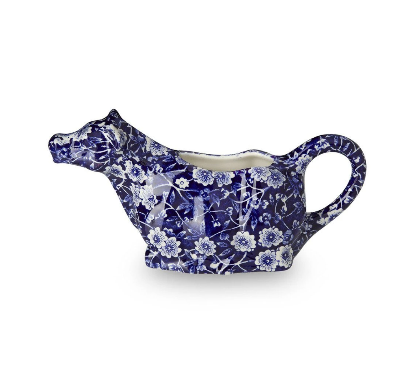 Burleigh UK Blue Calico - Cow Creamer