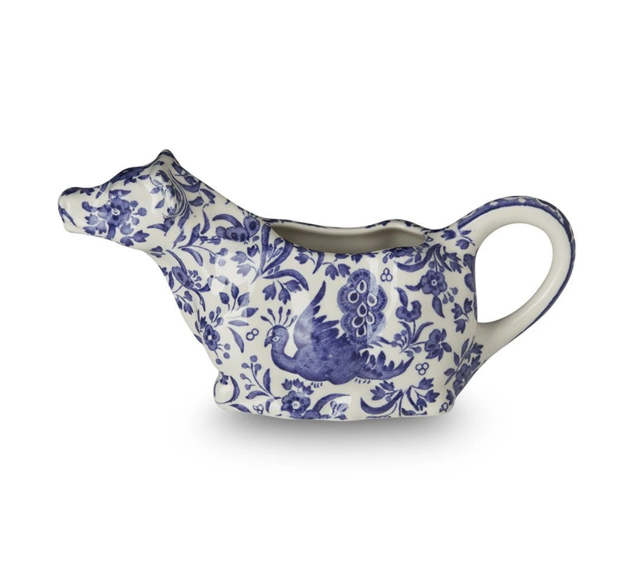 Burleigh UK Blue Regal Peacock- Cow Creamer
