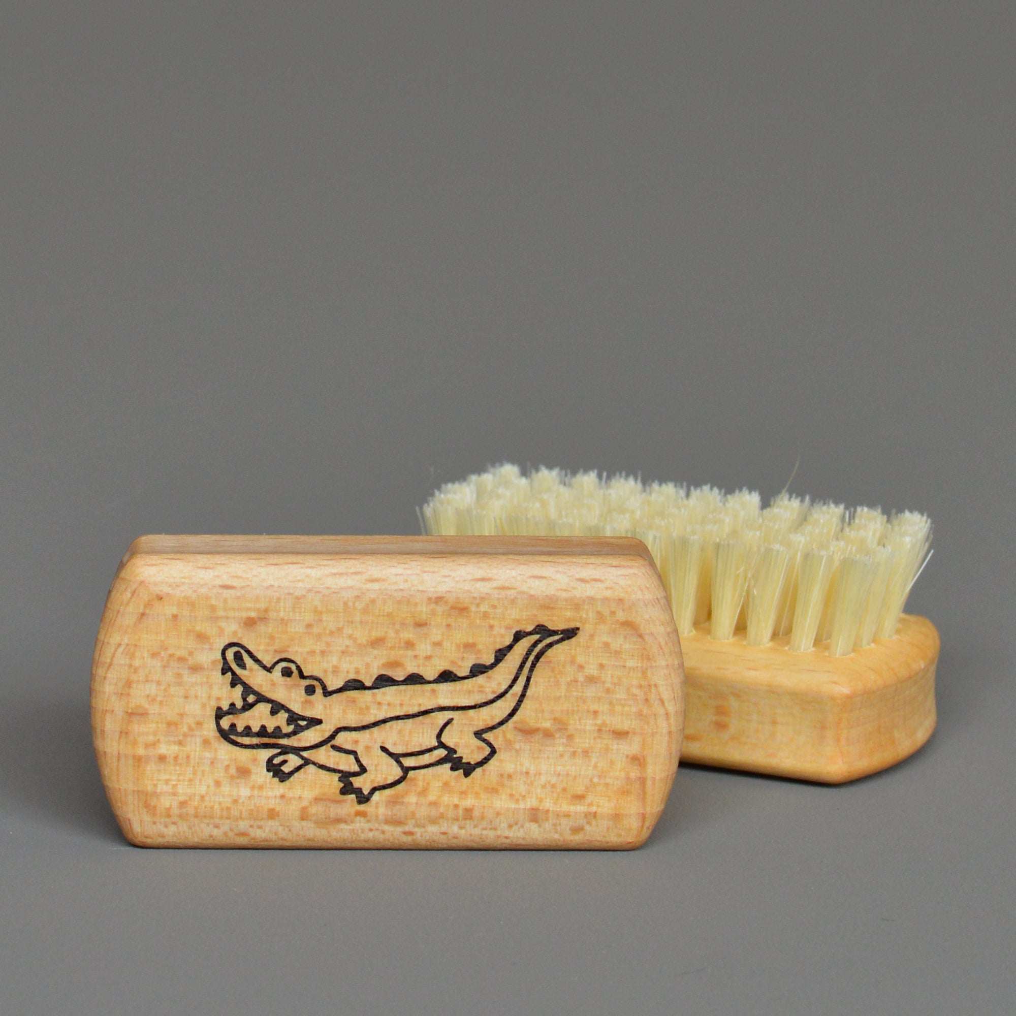 Nail Brush with Crocodile by Redecker