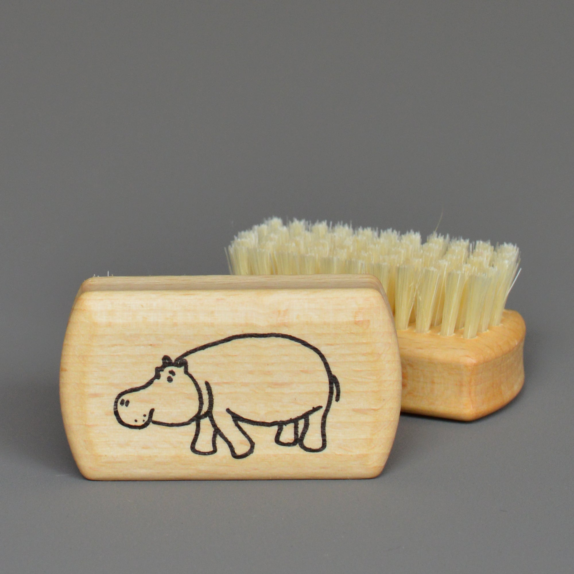 Nail Brush- Hippo