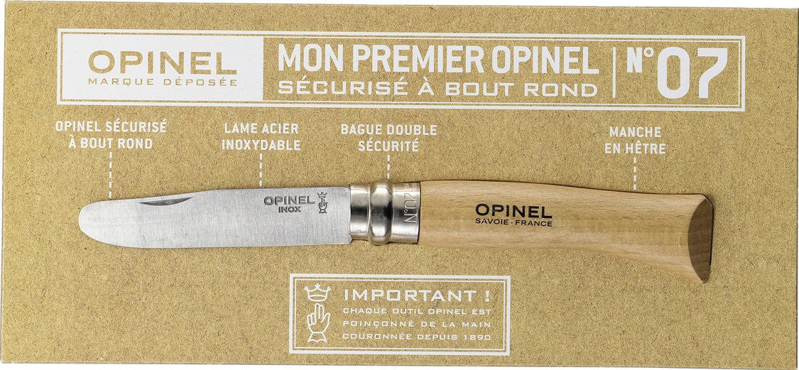 Opinel round tip No 7 picnic knife