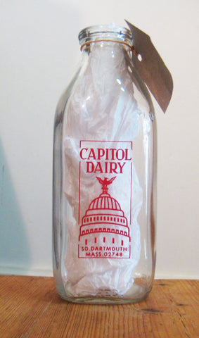 Vintage Capitol Dairy Milk Bottle