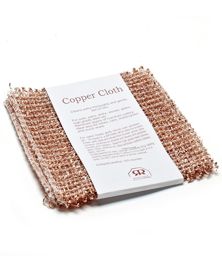Copper Cleaning Cloth by Redecker