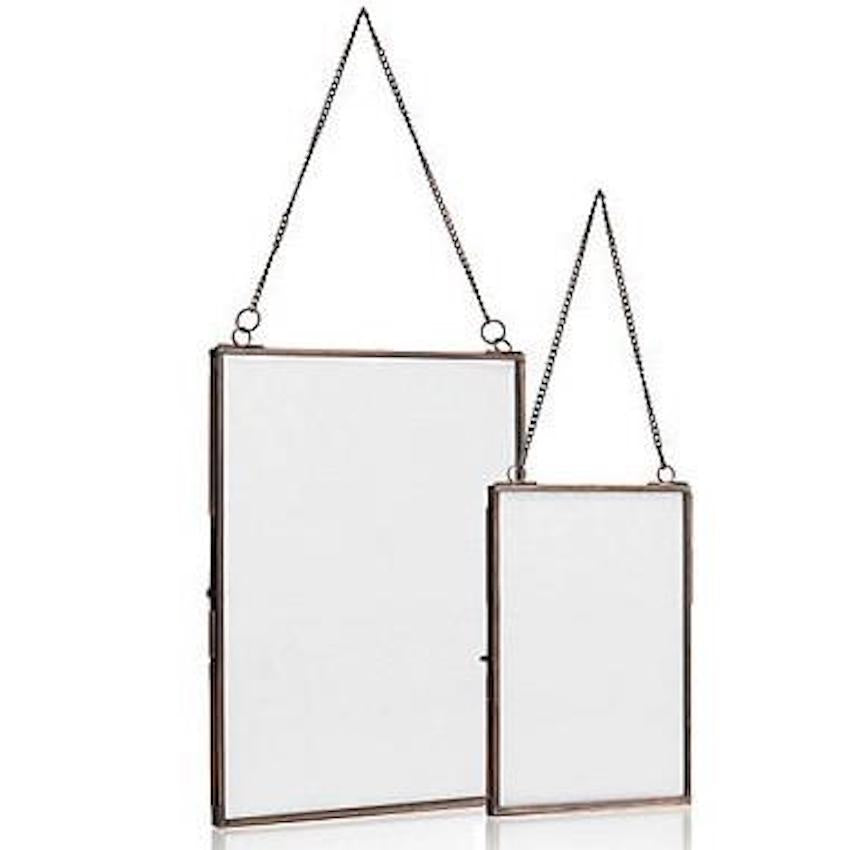 Photo Frame- Hanging Brass Medium size