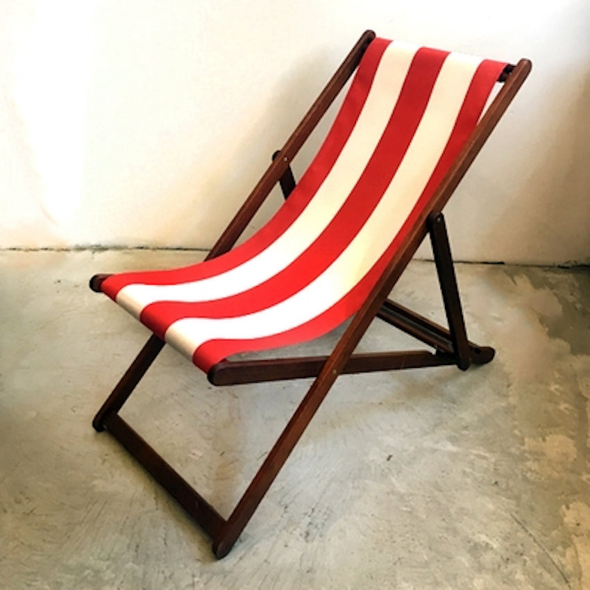 Deck Chair in Red Block Stripe