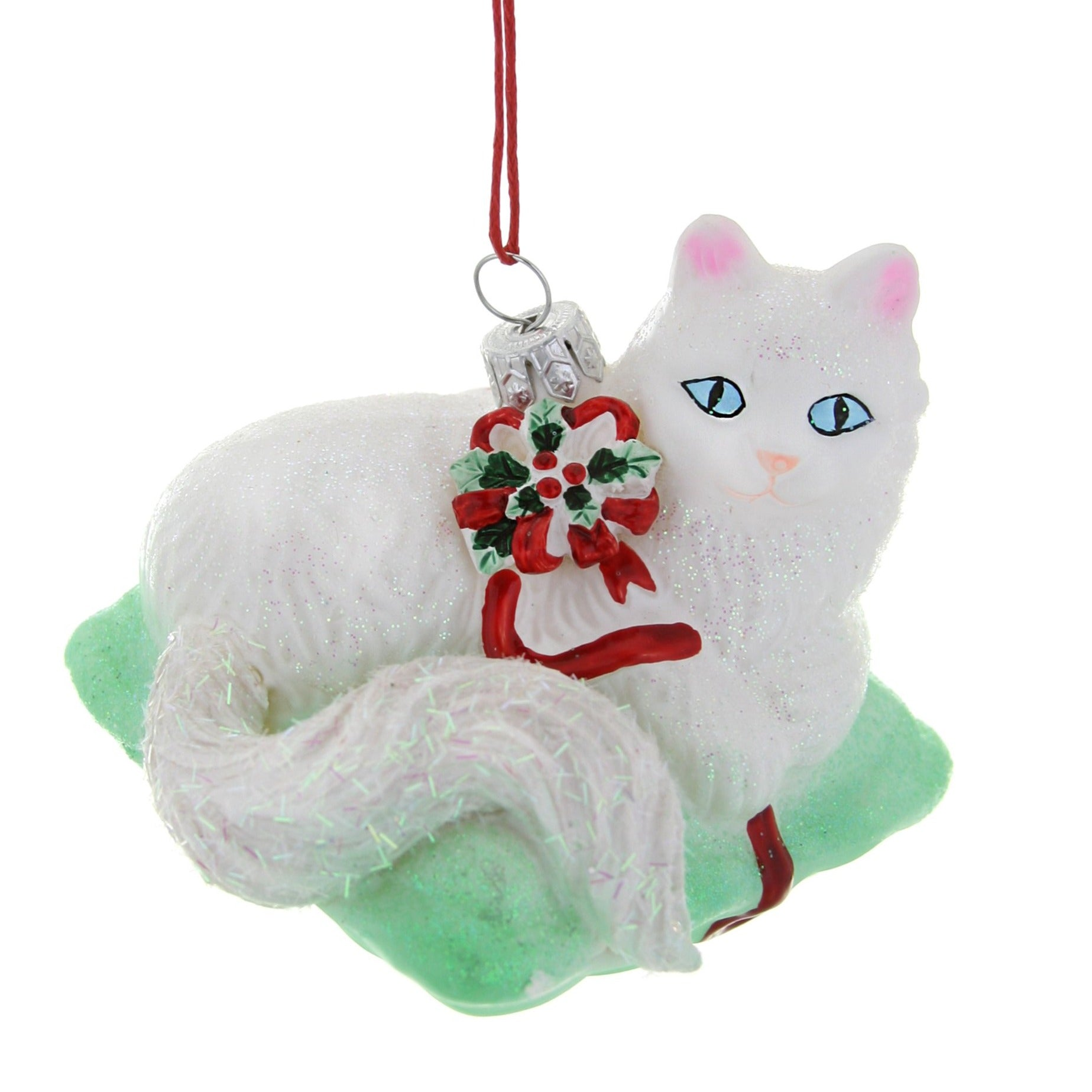 Festive Cat on a Mat Ornament